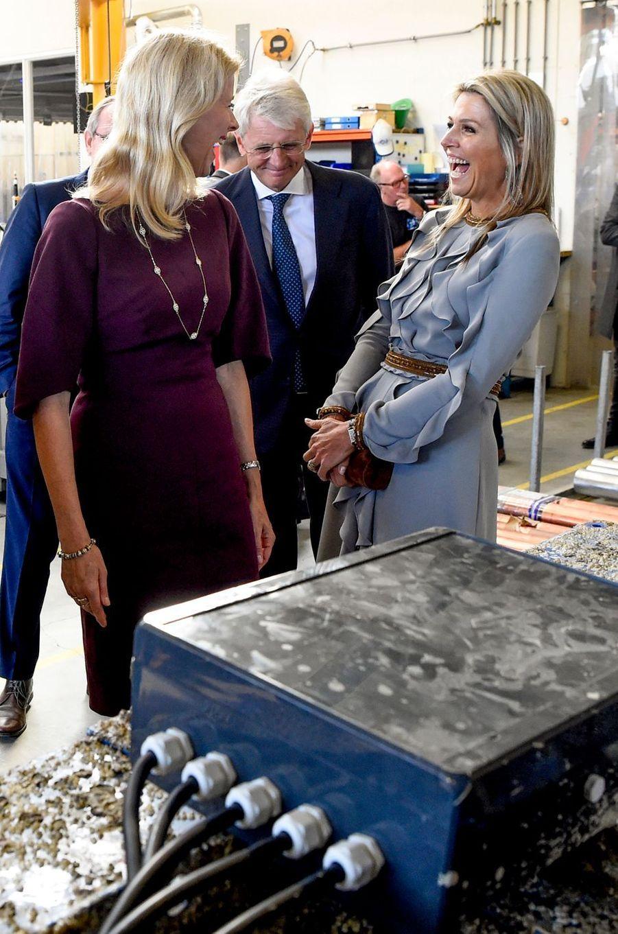 La reine Maxima des Pays-Bas à Moerkapelle, le 3 octobre 2018