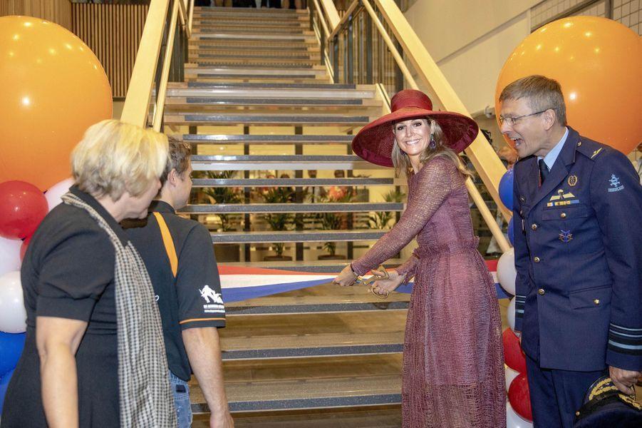 La reine Maxima des Pays-Bas inaugure l'hôpital militaire d'Utrecht rénové et agrandi, le 19juin 2019
