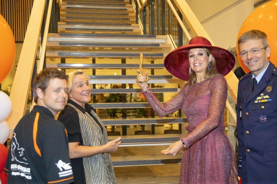 La reine Maxima des Pays-Bas à l'hôpital militaire d' Utrecht, le 19juin 2019