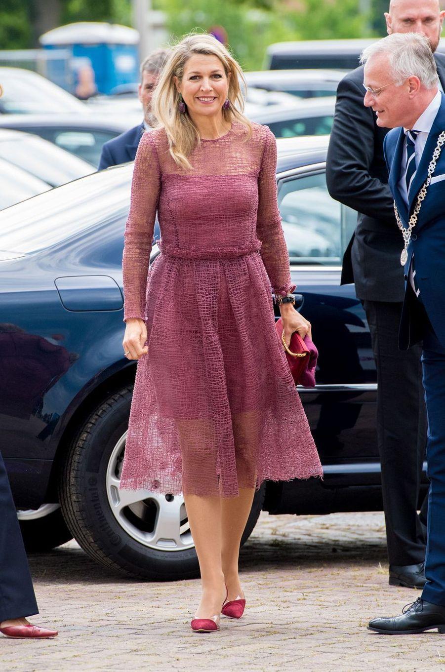 La reine Maxima des Pays-Bas à Almelo, le 19 juin 2019