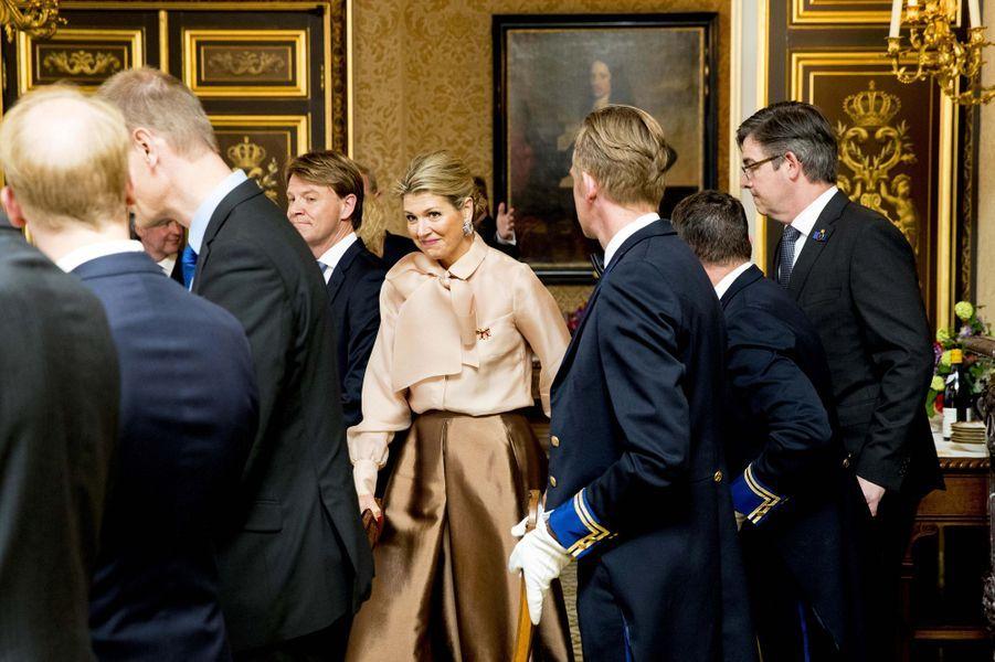 La reine Maxima des Pays-Bas à La Haye, le 15 mai 2018