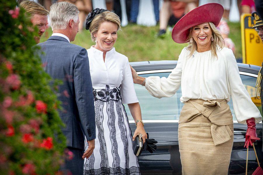 La reine des Belges Mathilde et la reine Maxima des Pays-Bas à Terneuzen, le 31 août 2019