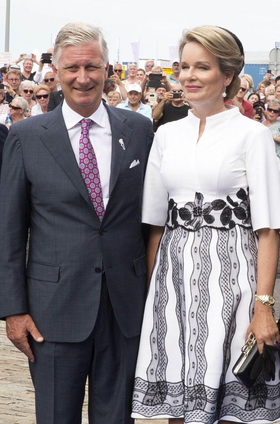 La reine Mathilde de Belgique et le roi des Belges Philippe à Terneuzen, le 31 août 2019