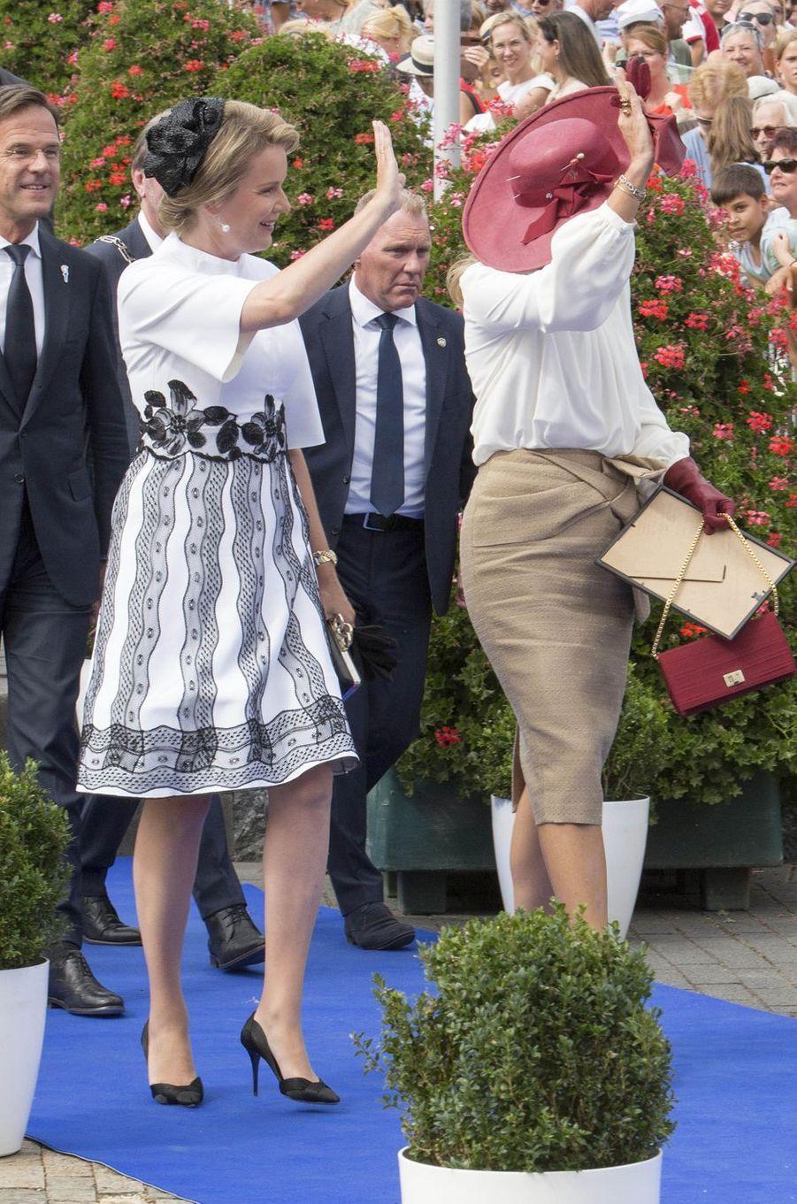 Les reines Mathilde de Belgique et Maxima des Pays-Bas à Terneuzen, le 31 août 2019