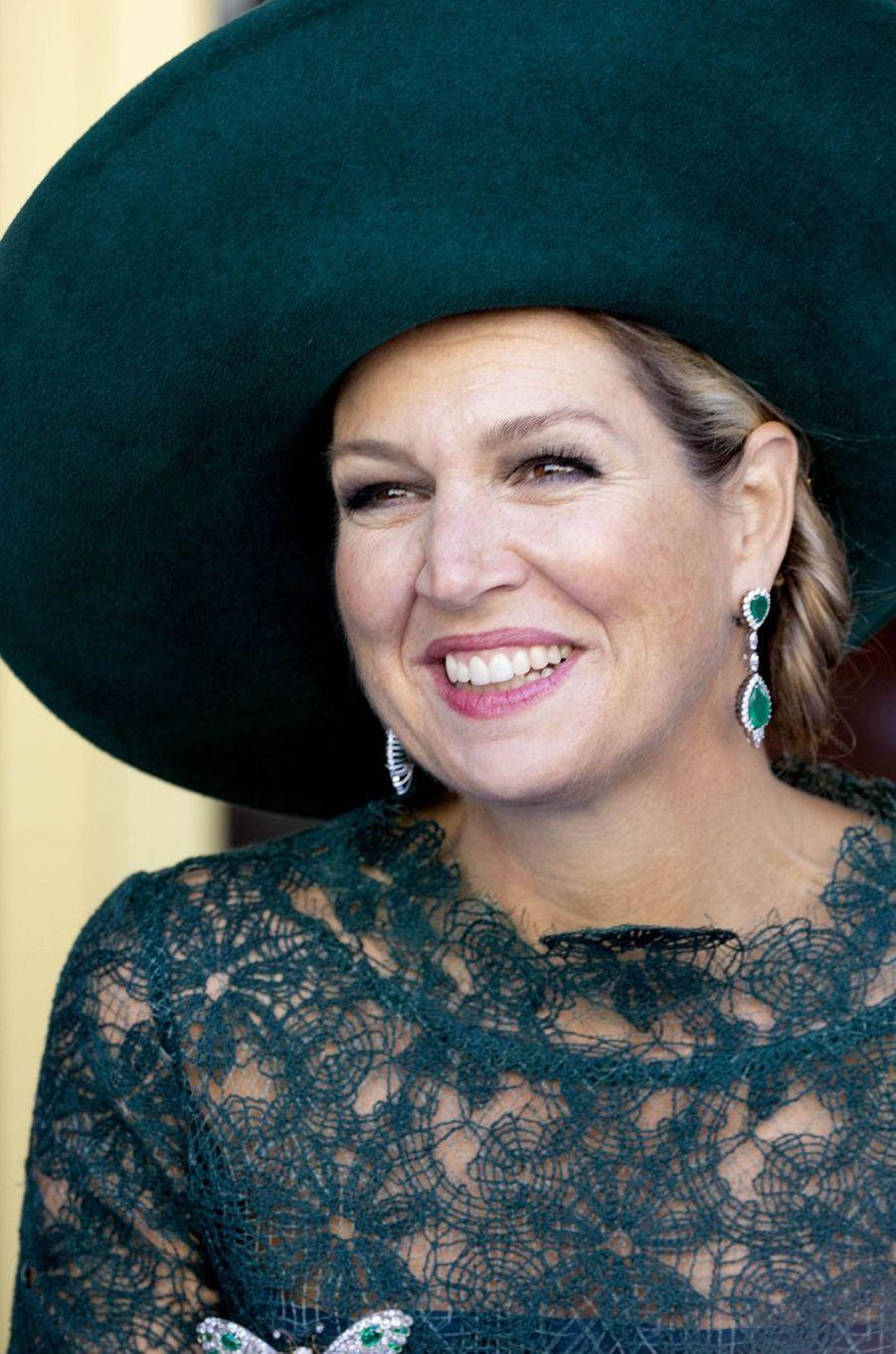 La reine Maxima des Pays-Bas à Utrecht, le 5 octobre 2018