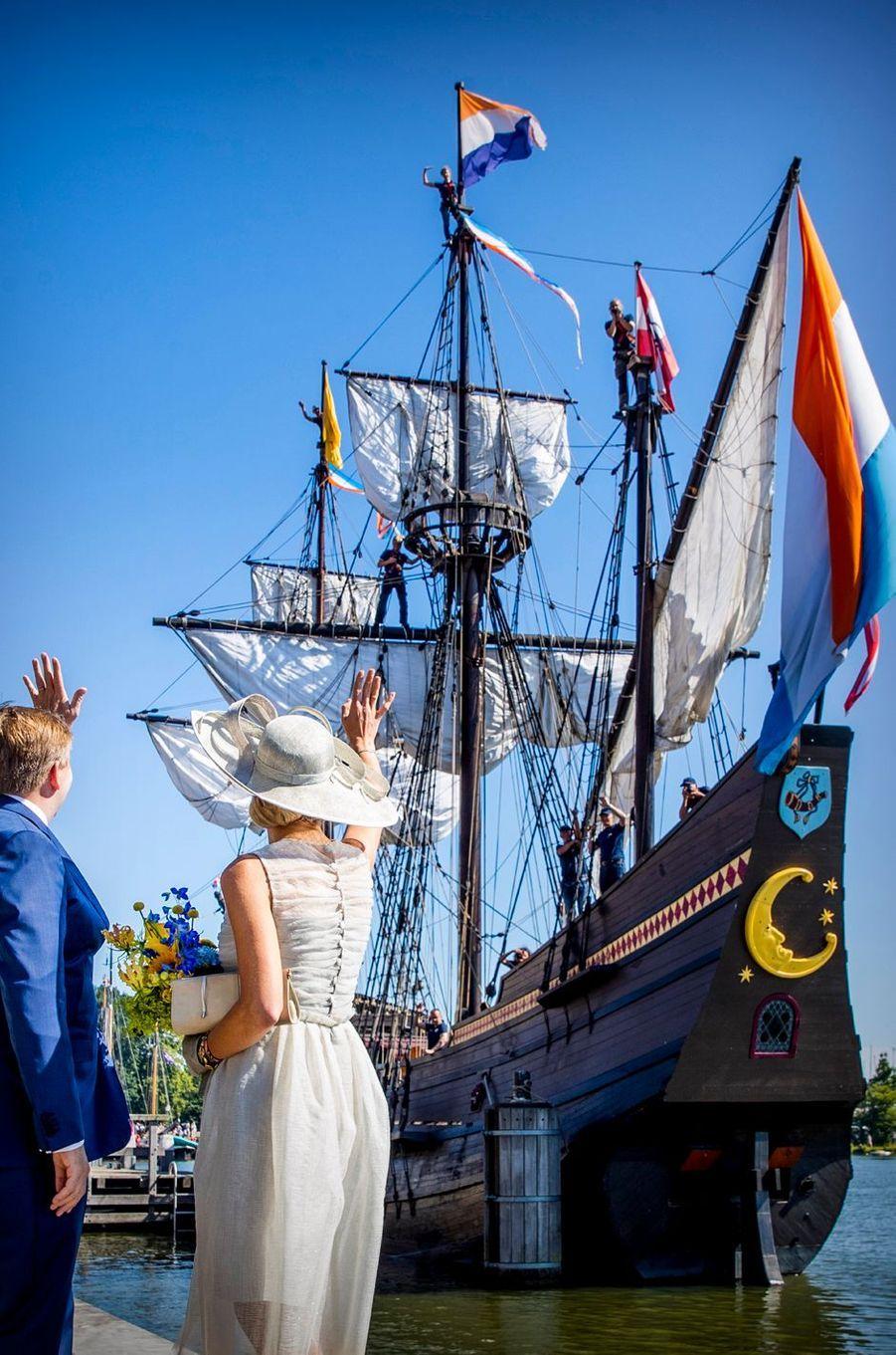 La reine Maxima et le roi Willem-Alexander des Pays-Bas à Hoorn, le 28 juin 2018