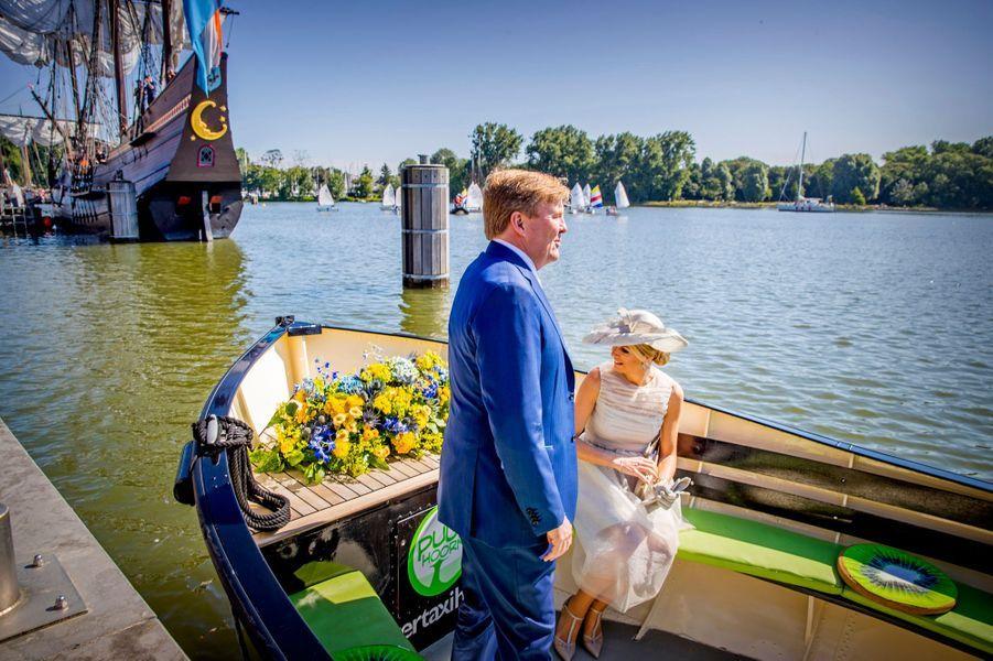 La reine Maxima et le roi Willem-Alexander des Pays-Bas à Hoorn en Frise-Occidentale, le 28 juin 2018