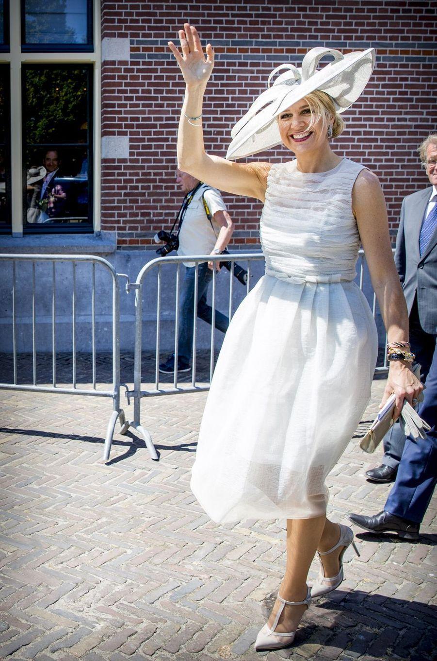 La reine Maxima des Pays-Bas à Medemblik, le 28 juin 2018