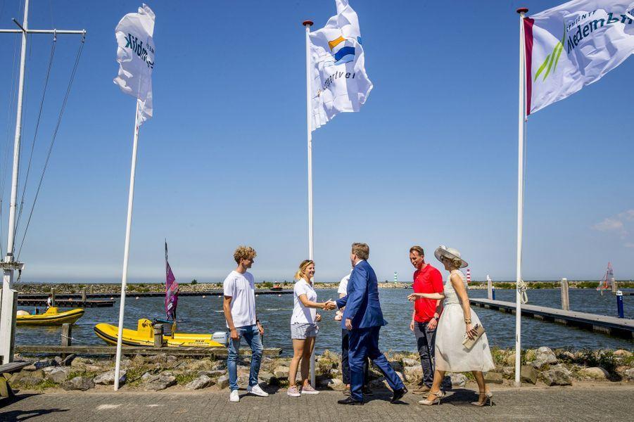 La reine Maxima et le roi Willem-Alexander des Pays-Bas à Medemblik, le 28 juin 2018