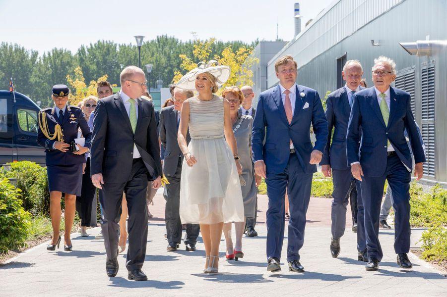La reine Maxima et le roi Willem-Alexander des Pays-Bas en Frise-Occidentale, le 28 juin 2018
