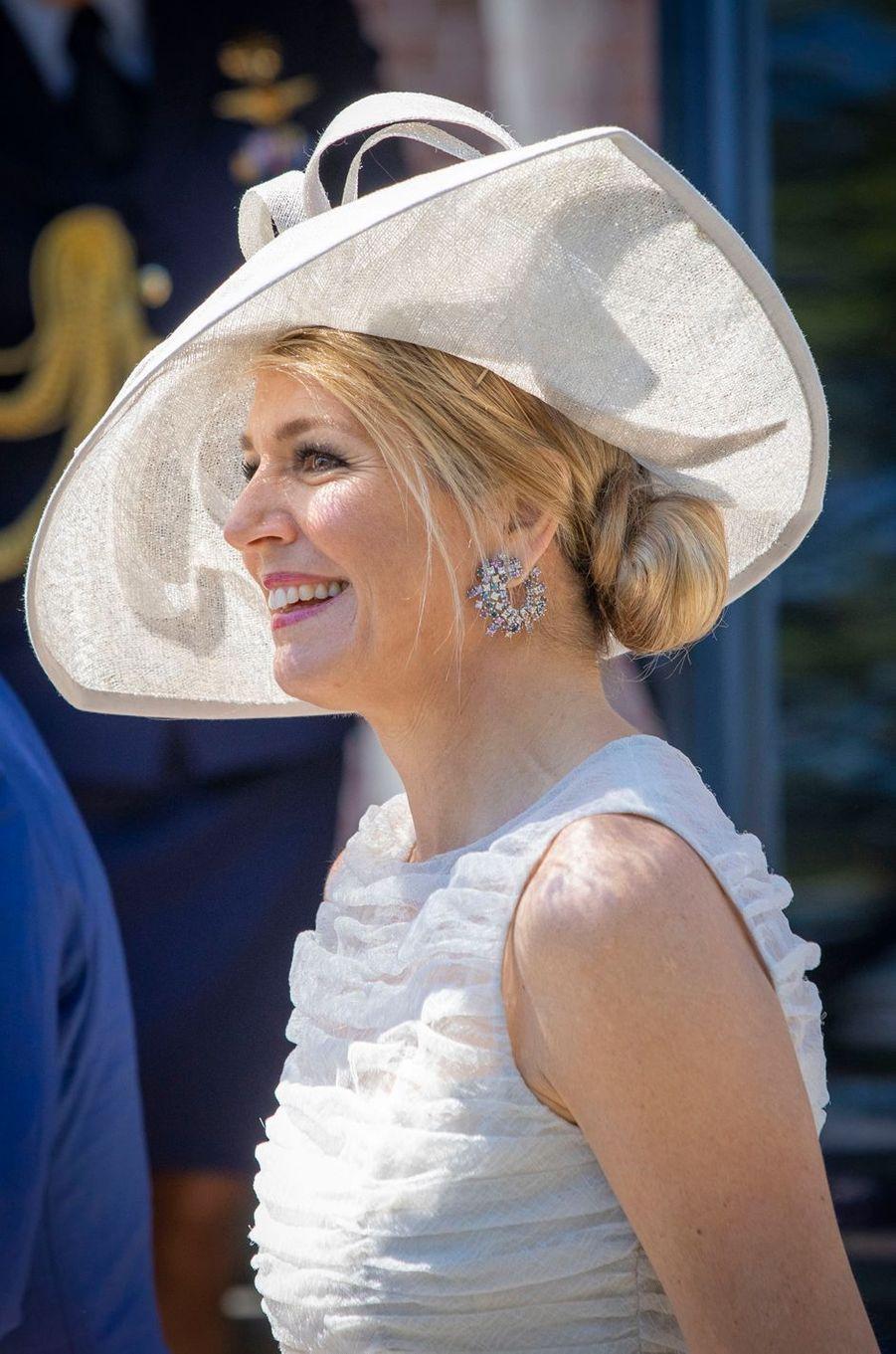 La reine Maxima des Pays-Bas en Frise-Occidentale, le 28 juin 2018