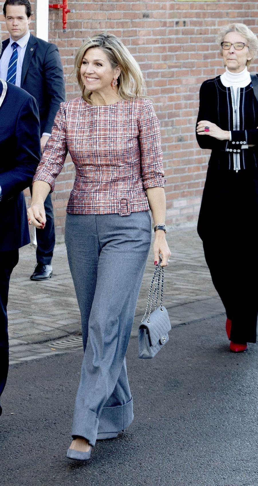 La reine Maxima des Pays-Bas à Vlissingen en Zélande, le 20 février 2019