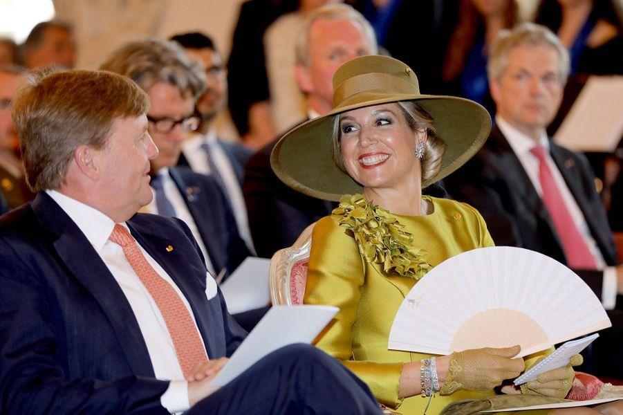 La reine Maxima et le roi Willem-Alexander des Pays-Bas à Luxembourg, le 23 mai 2018