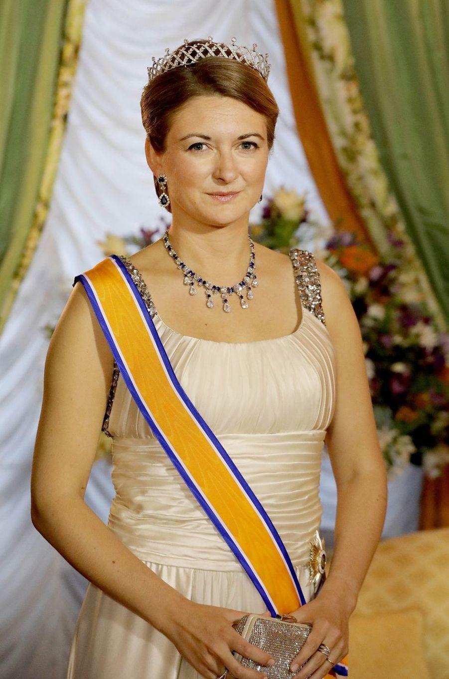 La princesse Stéphanie de Luxembourg à Luxembourg, le 23 mai 2018
