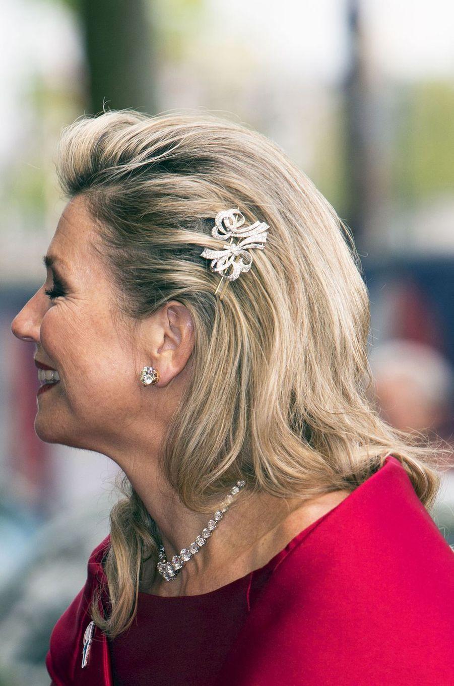 La reine Maxima des Pays-Bas à Amsterdam, le 5 mai 2019