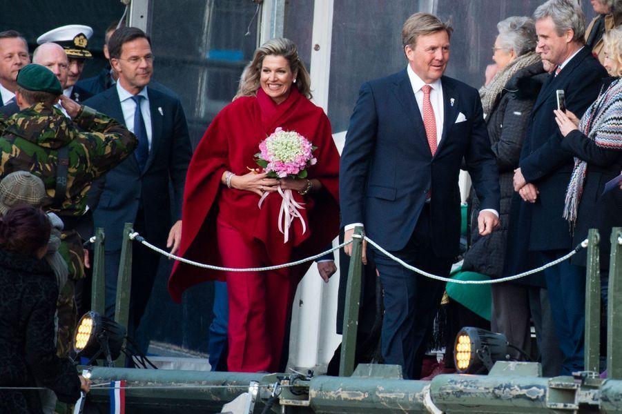 La reine Maxima et le roi Willem-Alexander des Pays-Bas à Amsterdam, le 5 mai 2019