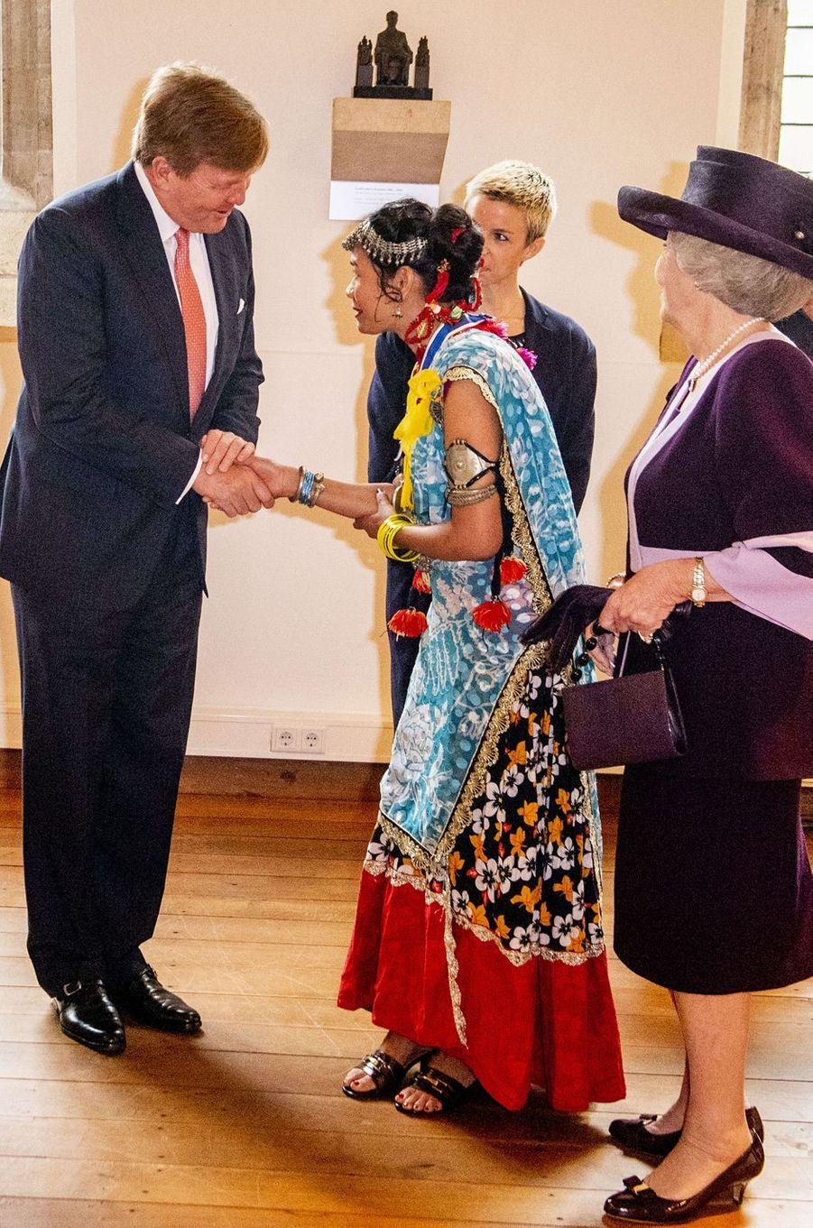 Le roi Willem-Alexander et la princesse Beatrix des Pays-Bas à Middelburg, le 16 mai 2018