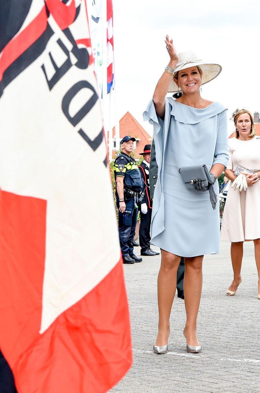 La reine Maxima des Pays-Bas à son arrivée à Veghel, le 10 septembre 2018
