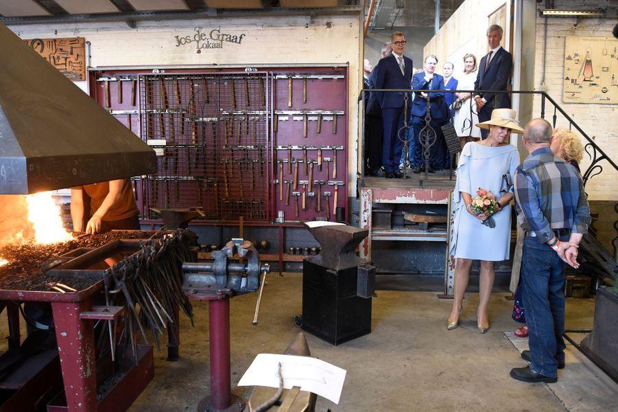 La reine Maxima des Pays-Bas, en Natan, à Veghel le 10 septembre 2018