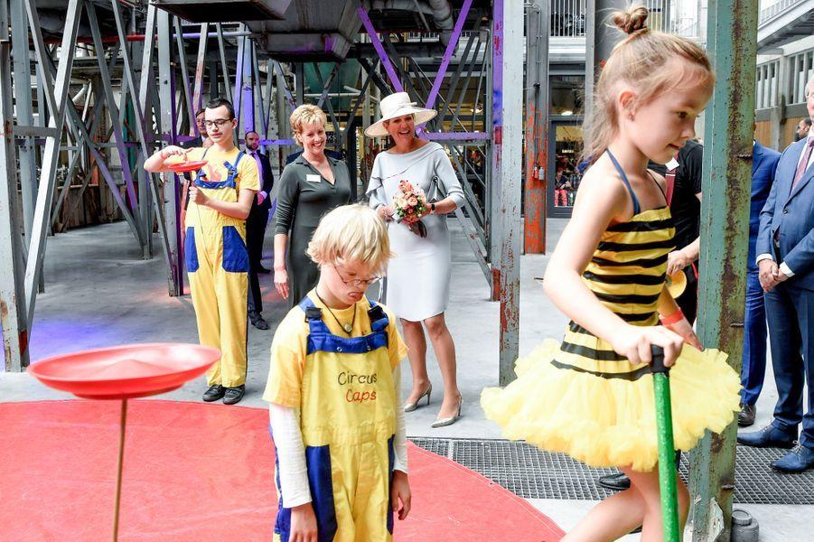 La reine Maxima des Pays-Bas en visite à Veghel, le 10 septembre 2018