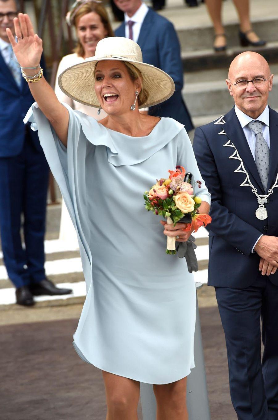 La reine Maxima des Pays-Bas à Veghel, le 10 septembre 2018