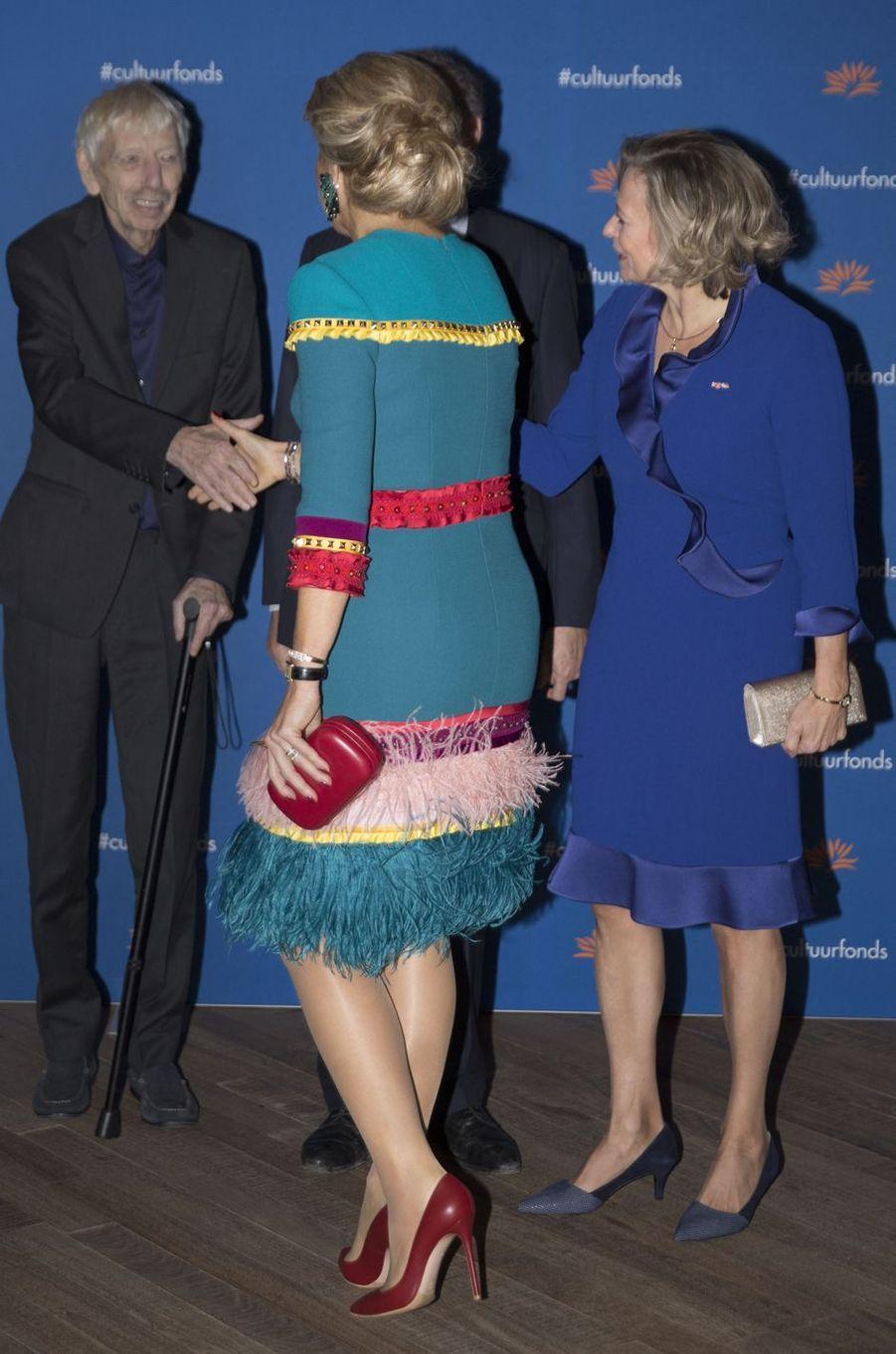 La reine Maxima des Pays-Bas avec Reinbert de Leeuw à Amsterdam, le 26 novembre 2018