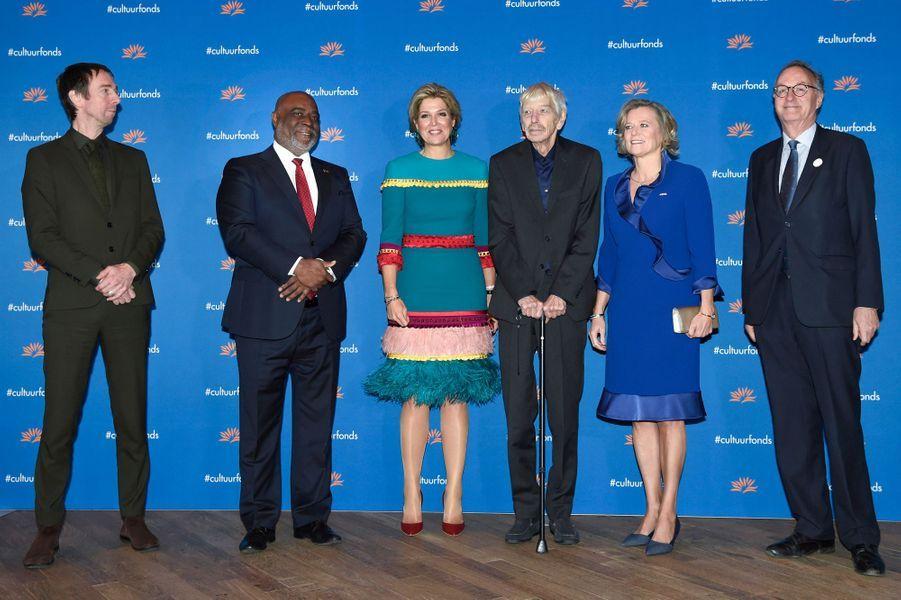 La reine Maxima des Pays-Bas et Reinbert de Leeuw à Amsterdam, le 26 novembre 2018