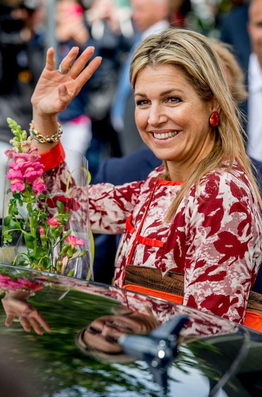 La reine Maxima des Pays-Bas à Oisterwijk, le 8 juin 2017