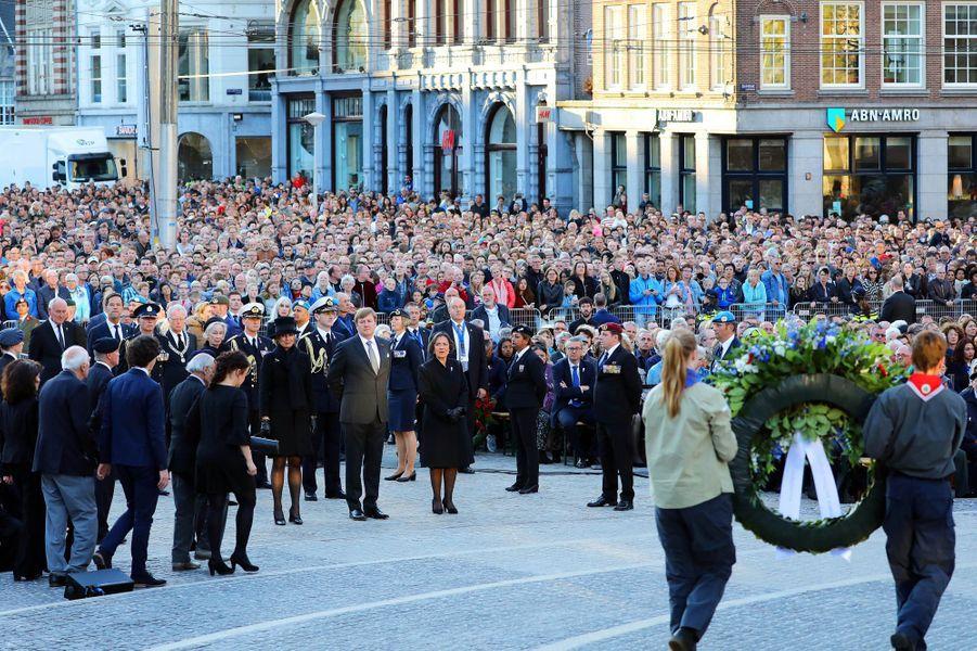 Le roi Willem-Alexander et la reine Maxima des Pays-Bas à Amsterdam, le 4 mai 2018