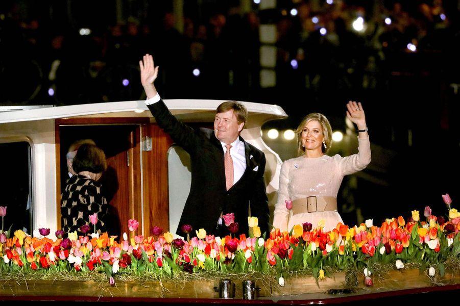 La reine Maxima et le roi Willem-Alexander des Pays-Bas à Amsterdam, le 5 mai 2018