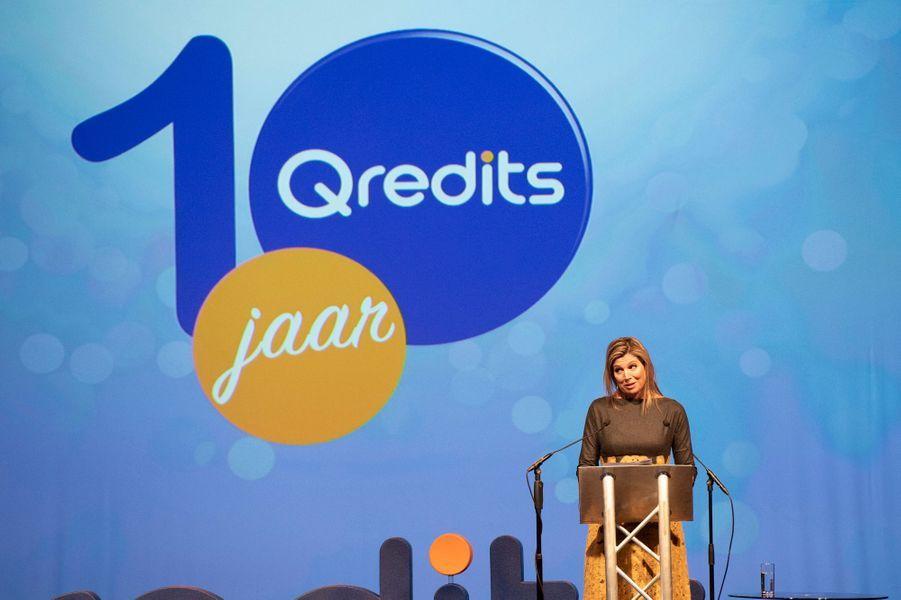 La reine Maxima des Pays-Bas fait un discours à Amersfoort, le 5 mars 2019
