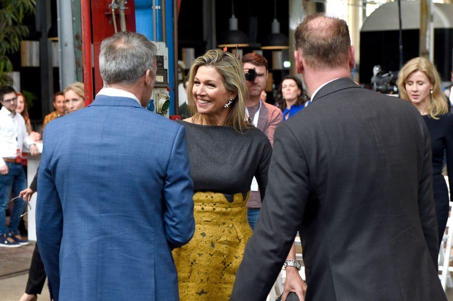 La reine Maxima des Pays-Bas à Amersfoort près d'Utrecht, le 5 mars 2019