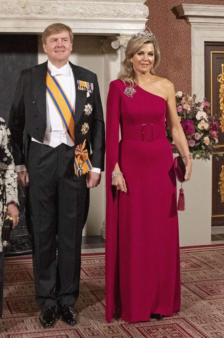 La reine Maxima et le roi Willem-Alexander des Pays-Bas, le 21 novembre 2018 à Amsterdam