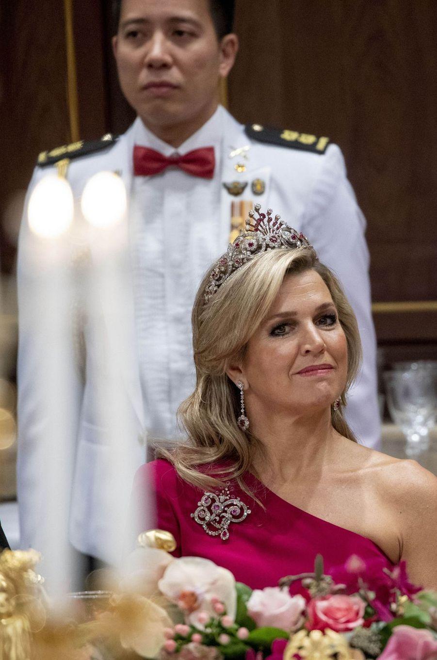 La reine Maxima des Pays-Bas à Amsterdam, le 21 novembre 2018