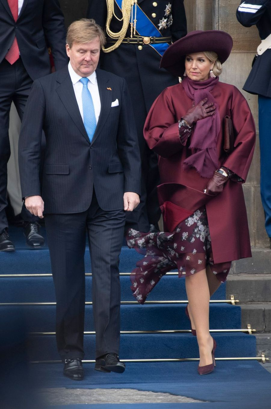 La reine Maxima et le roi Willem-Alexander des Pays-Bas à Amsterdam, le 21 novembre 2018