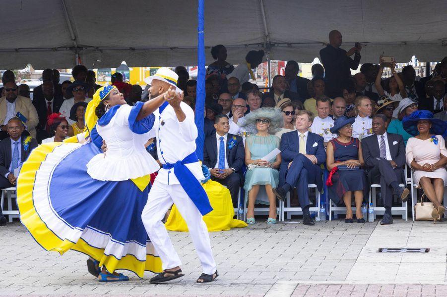 La reine Maxima et le roi Willem-Alexander des Pays-Bas à Willemstad, le 2 juillet 2018