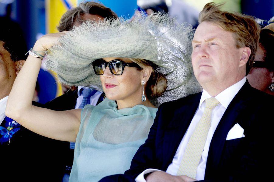 La reine Maxima et le roi Willem-Alexander des Pays-Bas à Barber, le 2 juillet 2018