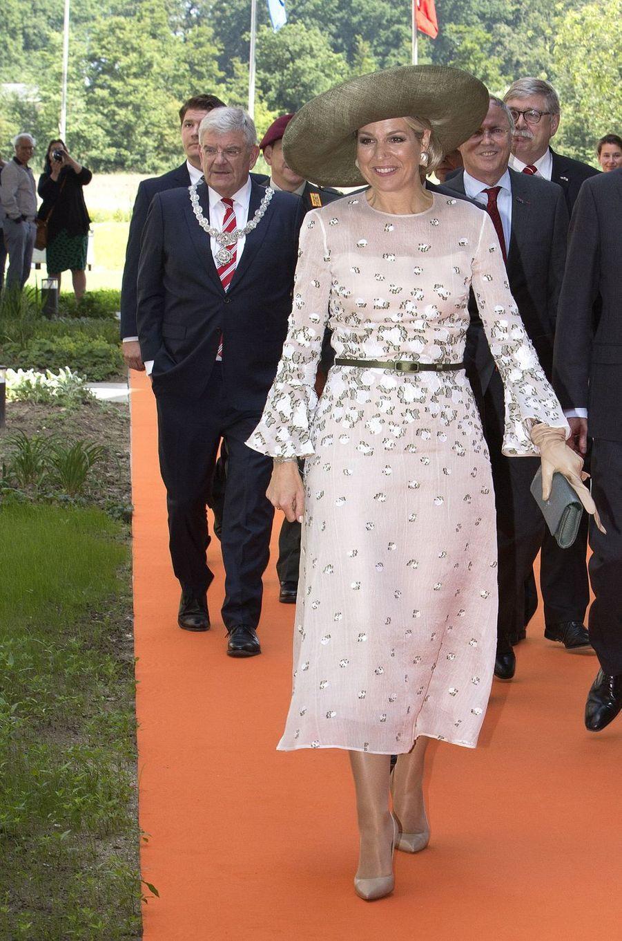 La reine Maxima des Pays-Bas à son arrivée à Utrecht, le 5 juin 2018