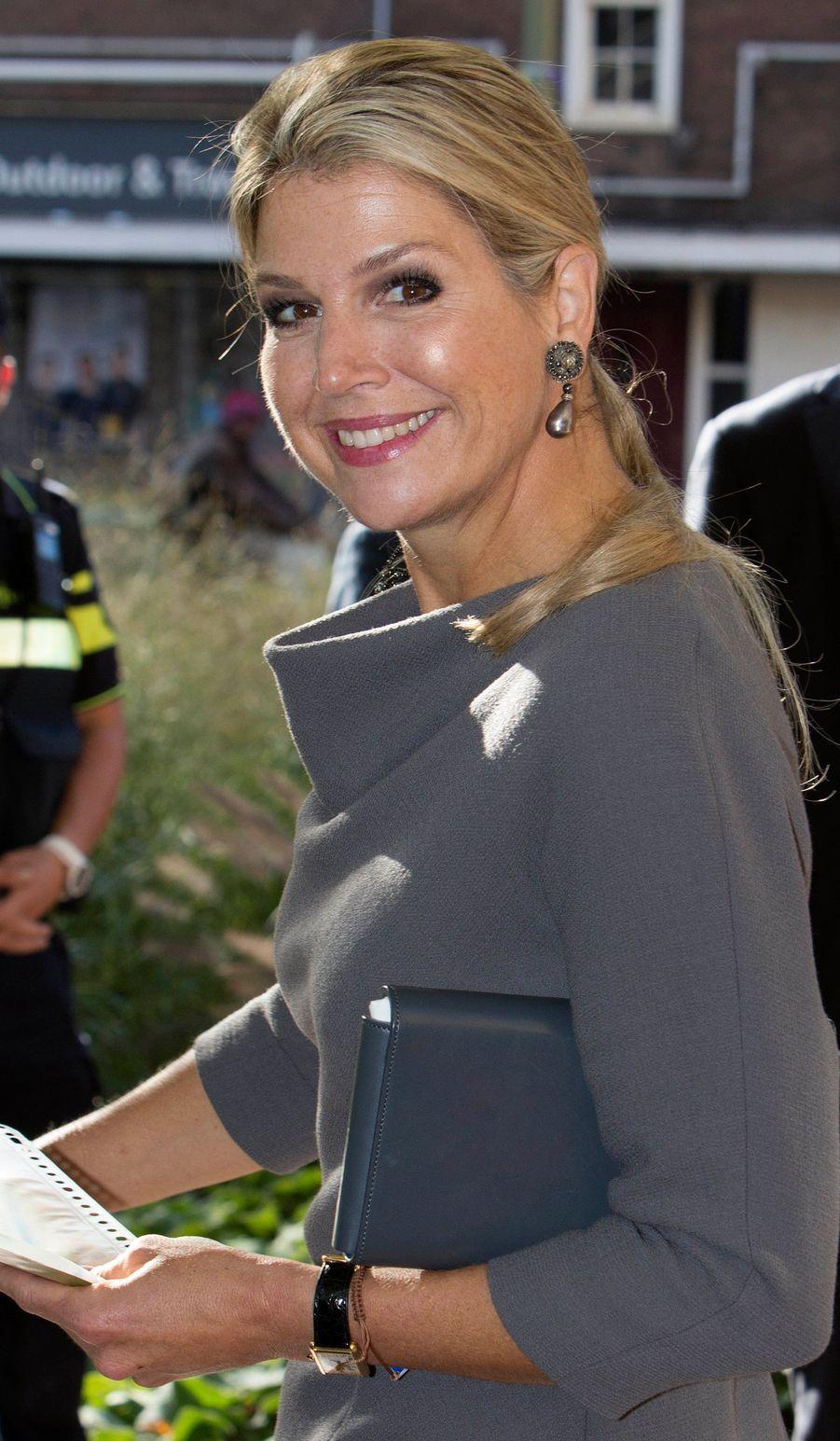 La reine Maxima des Pays-Bas à La Haye, le 9 octobre 2018