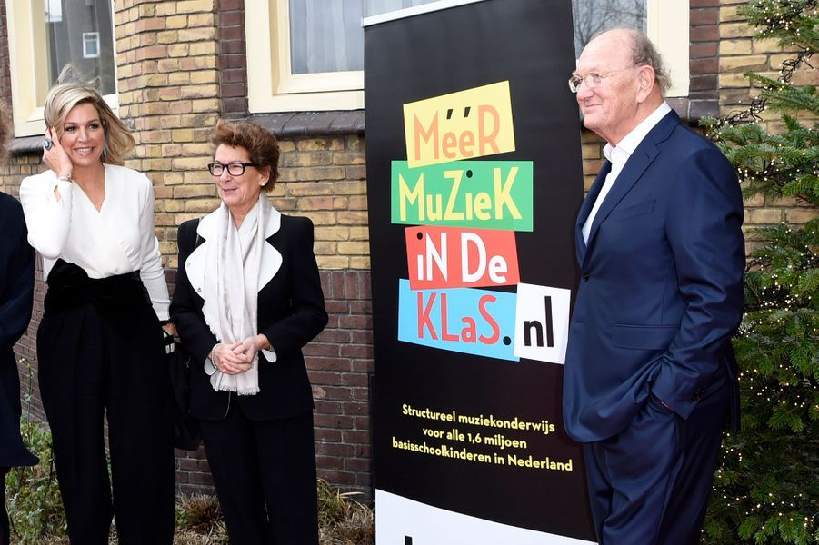La reine Maxima des Pays-Bas, en Natan, à Den Bosch le 19 décembre 2018
