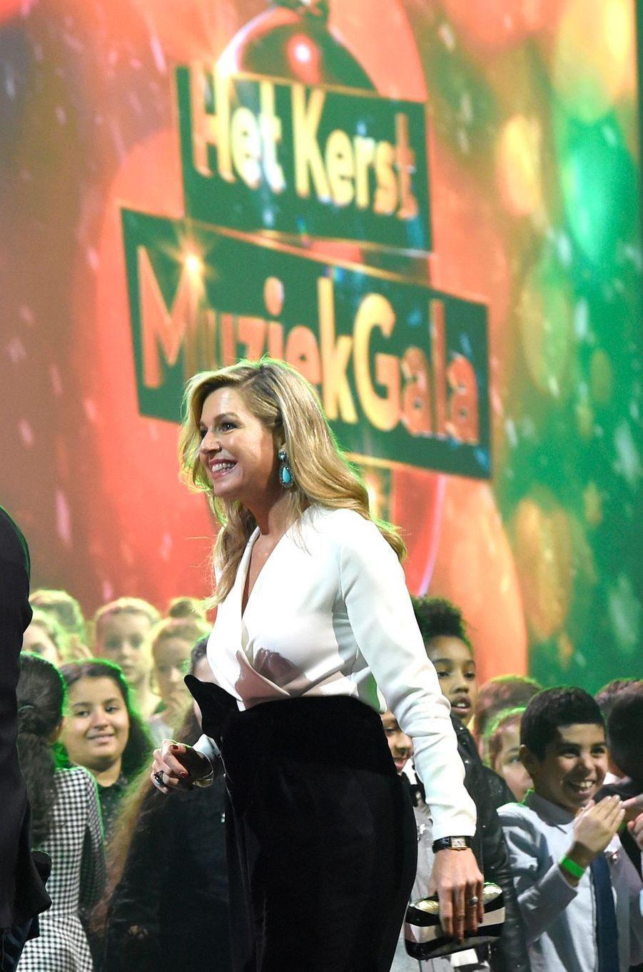 La reine Maxima des Pays-Bas le 19 décembre 2018, à Den Bosch (Bois-le-Duc)
