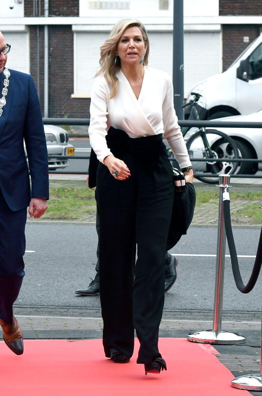 La reine Maxima des Pays-Bas à Den Bosch (Bois-le-Duc), le 19 décembre 2018