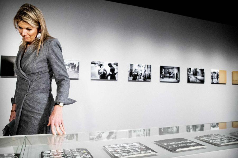 La reine Maxima des Pays-Bas au Nederlands Fotomuseum à Rotterdam, le 2 avril 2019