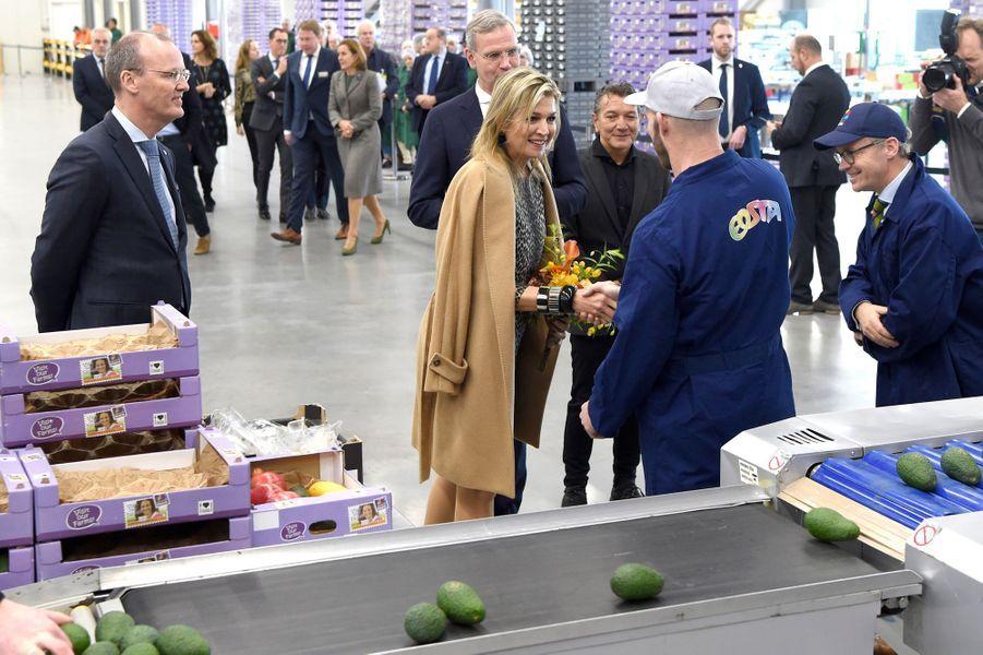 La reine Maxima des Pays-Bas à Waddinxveen, le 4 décembre 2018