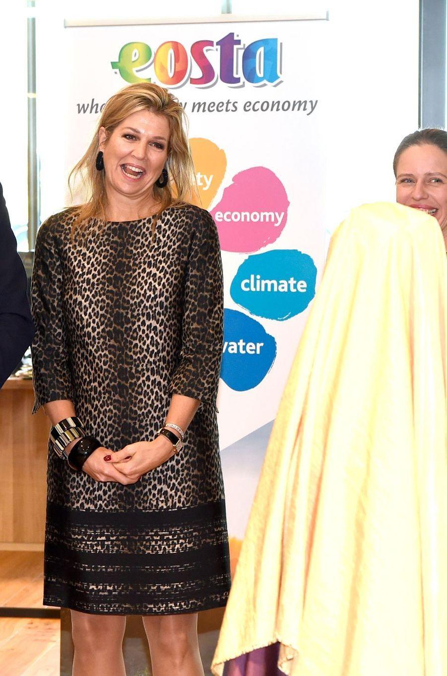 La reine Maxima des Pays-Bas visite Eosta à Waddinxveen, le 4 décembre 2018