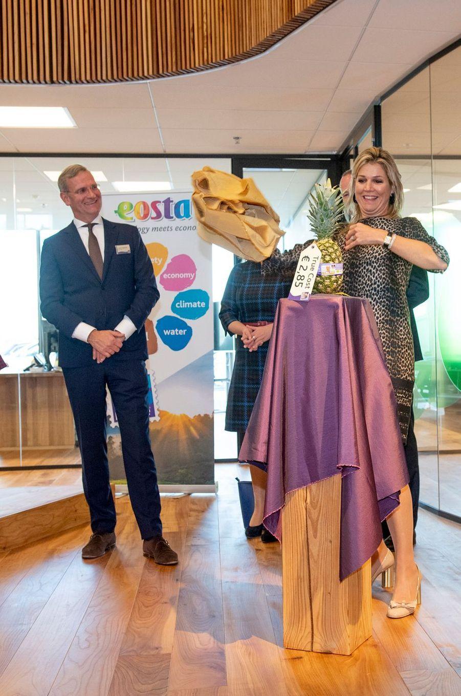 La reine Maxima des Pays-Bas visite Eosta, le 4 décembre 2018 à Waddinxveen