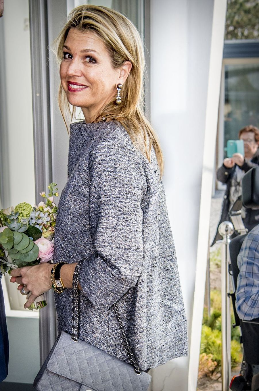La reine Maxima des Pays-Bas à Zandvoort, le 11 avril 2018