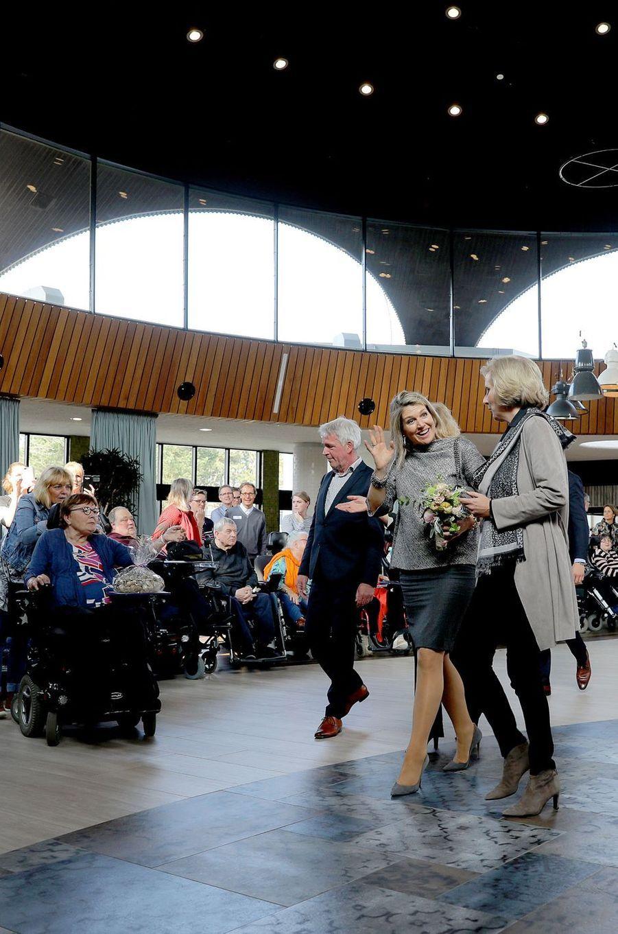 La reine Maxima des Pays-Bas, le 11 avril 2018 à Zandvoort