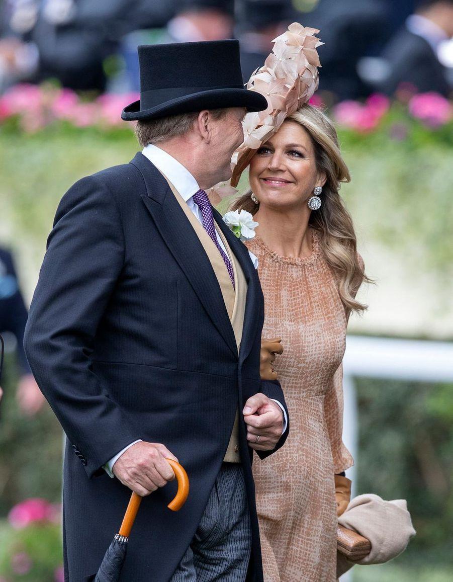 La reine Maxima et le roi Willem-Alexander des Pays-Bas au Royal Ascot, le 18 juin 2019