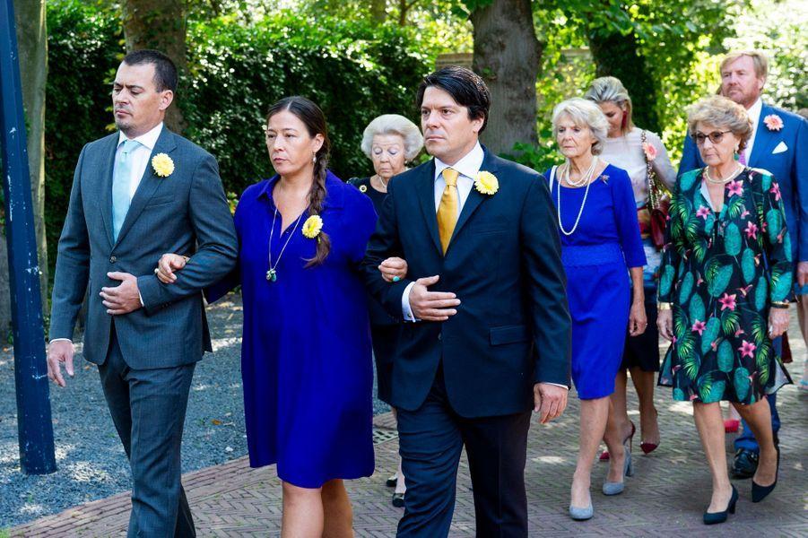 Les enfants et les soeurs de la princesse Christina des Pays-Bas lors de ses funérailles à La Haye, le 22 juin 2019